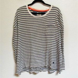 Sperry Striped Oversized Pocket Tee Size M